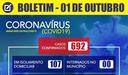 Boletim Coronavírus 01/10/2020