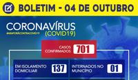 Boletim Coronavírus 04/10/2020
