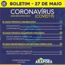 Boletim Coronavírus 27/05/2020