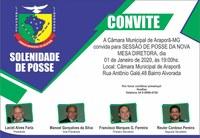 Convite para a Sessão Solene de Posse da Nova Mesa Diretora para o Anuênio de 2020