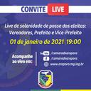 Live Solenidade de Posse dos Agentes Políticos Gestão 2021 a 2024